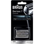Braun Kombipack 70S/ Scherteilekassette Series 7/ KP9000 silber passend  für Series 7 und Pulsonic